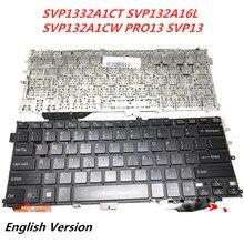 Laptop English Keyboard For SONY SVP1332A1CT SVP132A16L  SVP132A1CW PRO13 SVP13 notebook Replacement layout Keyboard