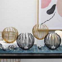 Fashion Geometric Iron Wedding Candlestick Wall Metal Gold Candle Holder Ornament Sconce Matching Minimalist Home decor Gift