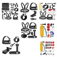 8 in 1 Sport Kit Exterior Accessories Indispensable for Gopro HD Hero4 Hero 1 2 3 3  4  SJ4000  SJ5000  SJ6000 and all