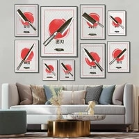 japanese utility knife kitchen wall art canvas poster print office painting home living room decoration painting