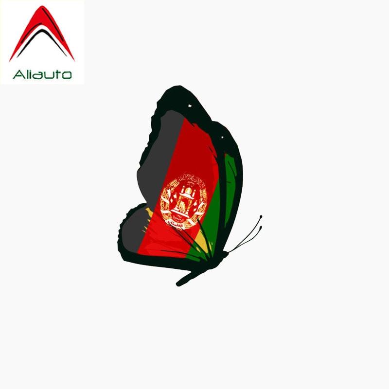 Aliauto Beautiful Car Sticker Afghanistan Flag Butterfly Waterproof Reflective Creative Decal Automobile Decoration,11cm*8cm