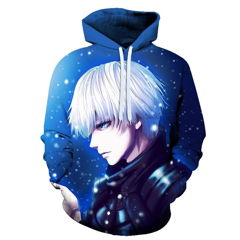 Nova moda clássico anime tóquio ghoul 3d impressão sweatshirts das mulheres dos homens sweats jumper hoodies unisex pullovers