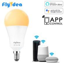 Equal 100W Incandescent Lamp 15W E14 LED Light Bulb to WiFi APP Control Smart Home Light Bulb Compatible Alexa and Google Home