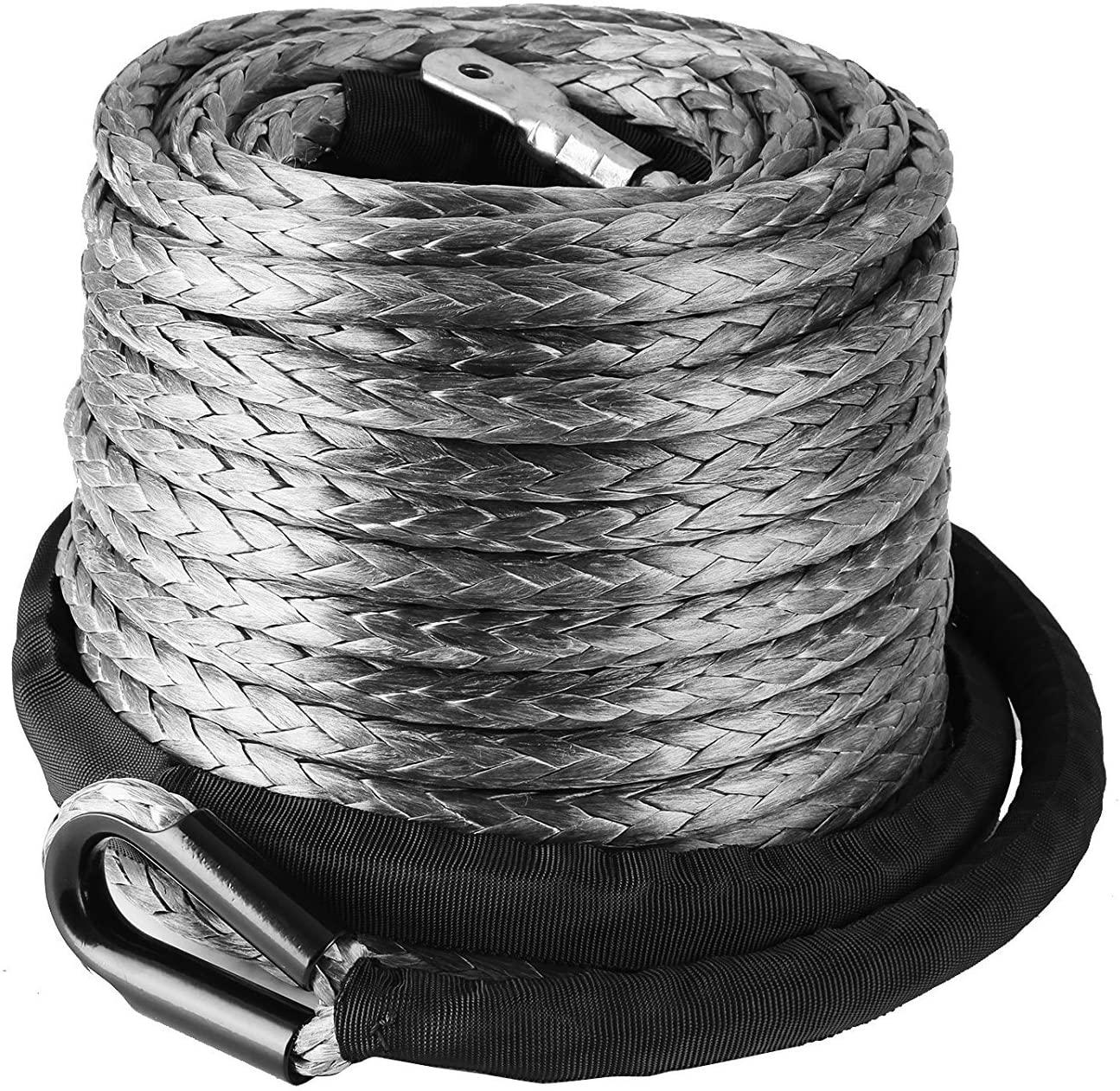 VEVOR 10mm * 28m, Cable del cabrestante ATV UTV sintético de Cable...