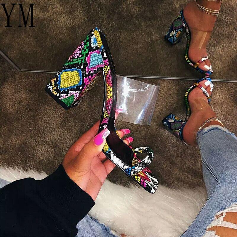 Summer Women Flat Ankle Strap Sandals Womens Transparent PVC Gladiator Beach Shoes Women Crystal Bli