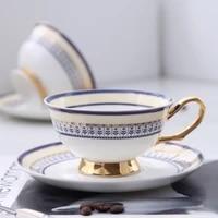 250ml europe noble bone china coffe cup saucer spoon set luxury ceramic mug top grade esspresso tea cup cafe party drinkware