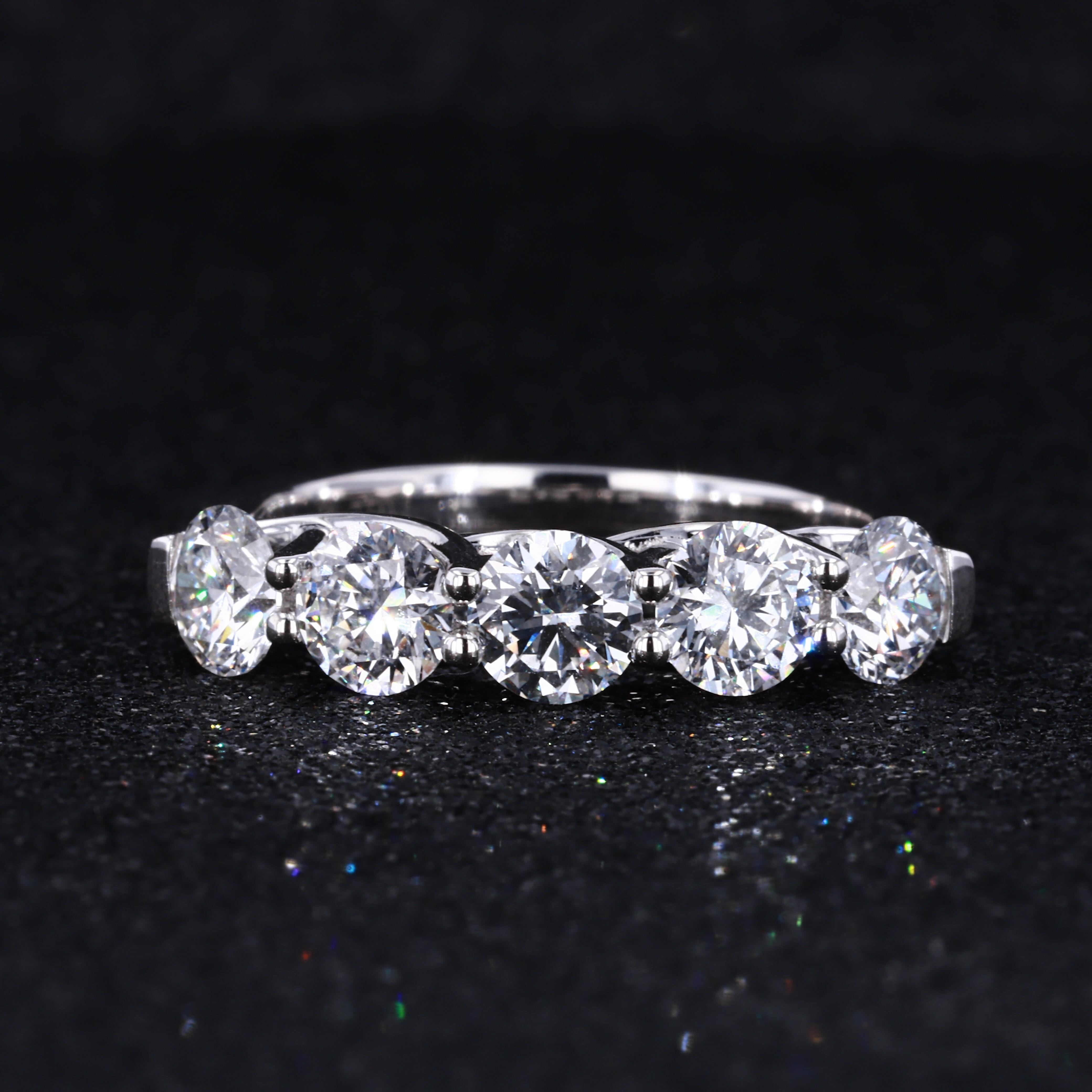 Starszuan-خاتم من الذهب الأبيض عيار 14 قيراطًا مرصع بالألماس المزروع في المختبر ، جودة جيدة ، HPHT ، للبيع