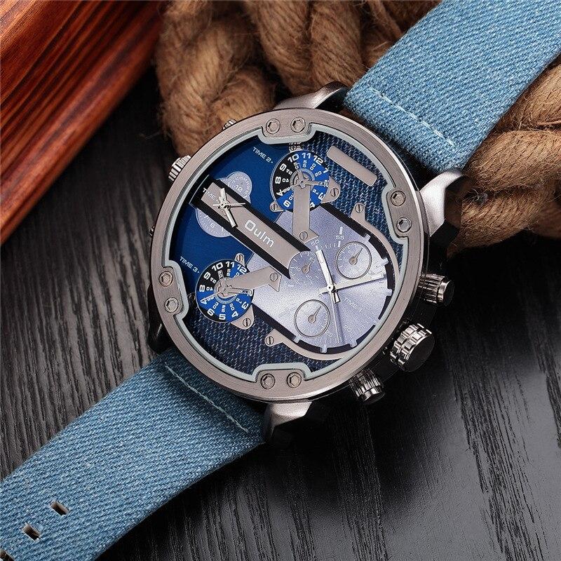 Прохладный Универсальный Большой циферблат Кварцевые часы с кожаным ремешком часы в стиле панк Для мужчин, часы для студентов
