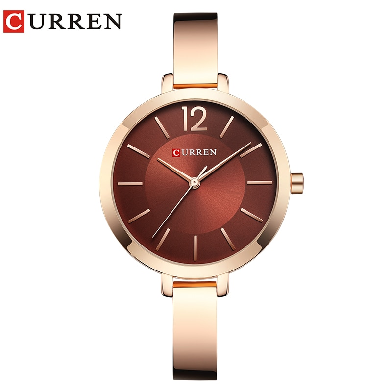 CURREN Fashion Dress Ladies Bracelet Watches Womens Quartz Stainless Steel Band Wristwatch Hot Gift Women's Watch Reloj Mujer enlarge