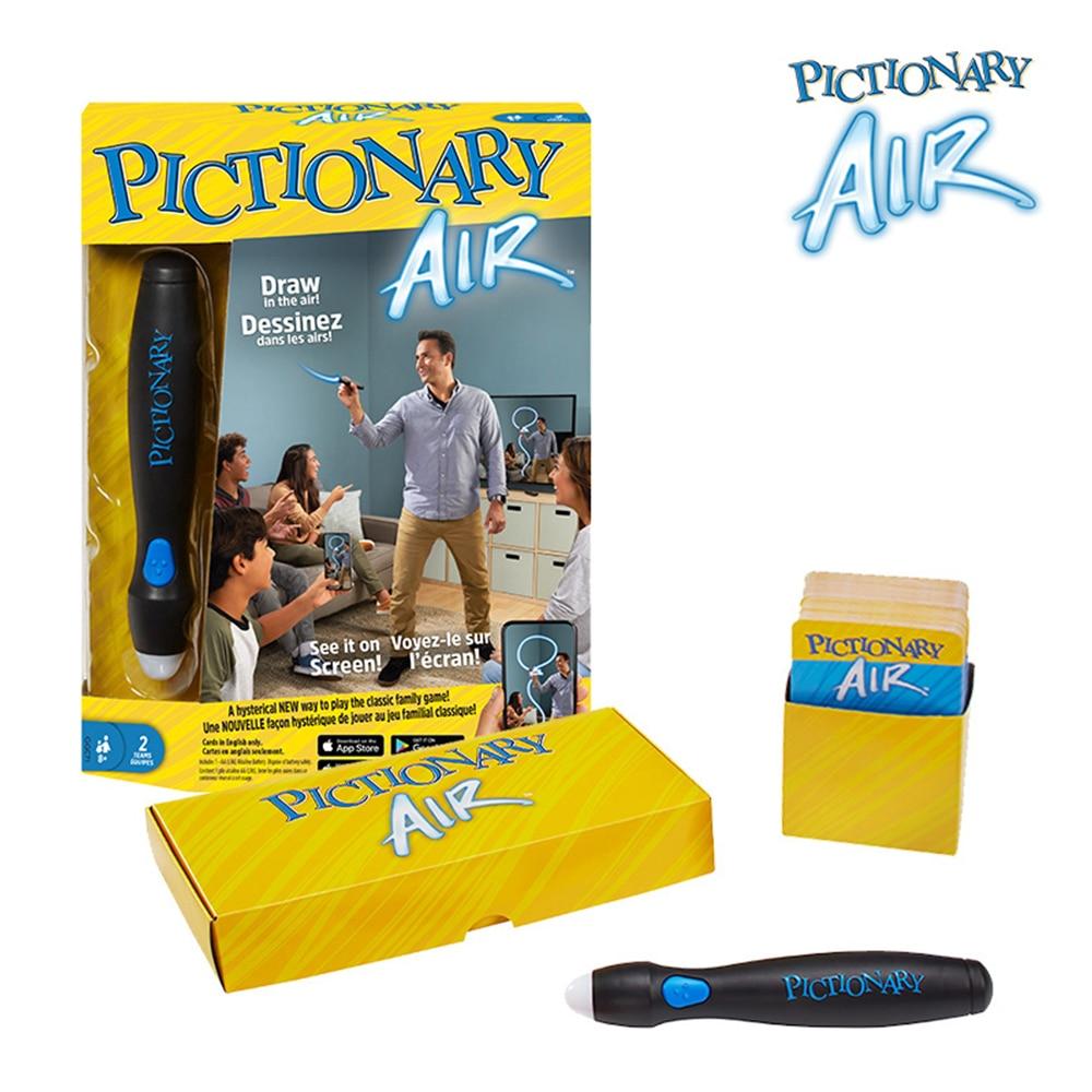 Mattel-Juego de mesa de entretenimiento familiar, rompecabezas de cartas de aire piccionario...