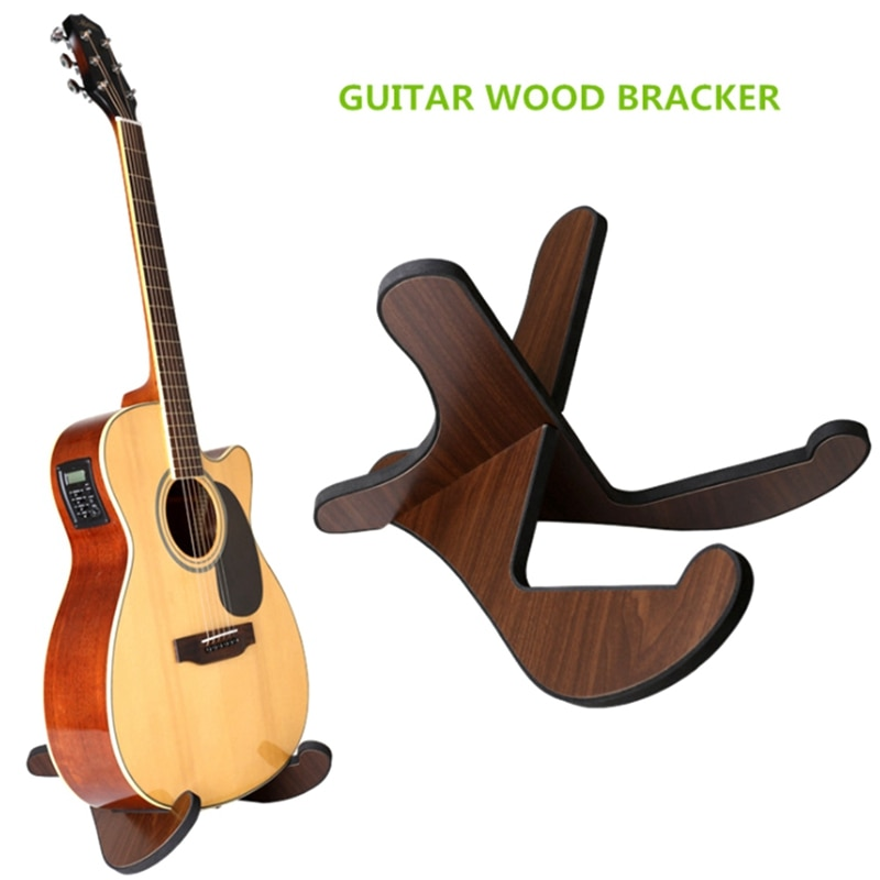 Guitar Stand Wooden Acoustic Guitar Stand Musical Detachable Instrument with X Shaped Pieces for Classical Guitar enlarge
