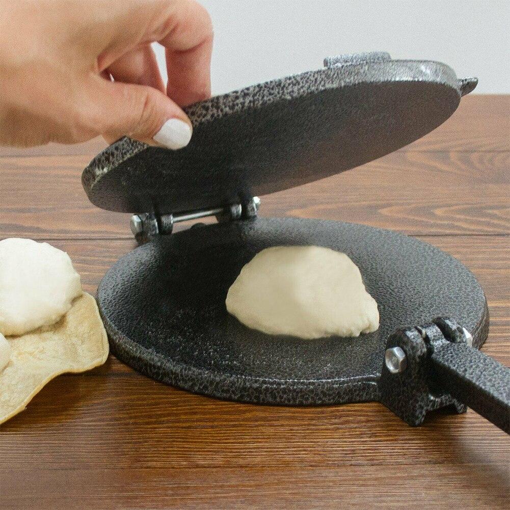 Casa de Jantar Pastelaria com Alça Polegadas Cozinha Imprensa Bakeware Ferramenta Faça Você Mesmo Alumínio Tortilla Fabricante México Molde Dobrável Fácil Limpo 8