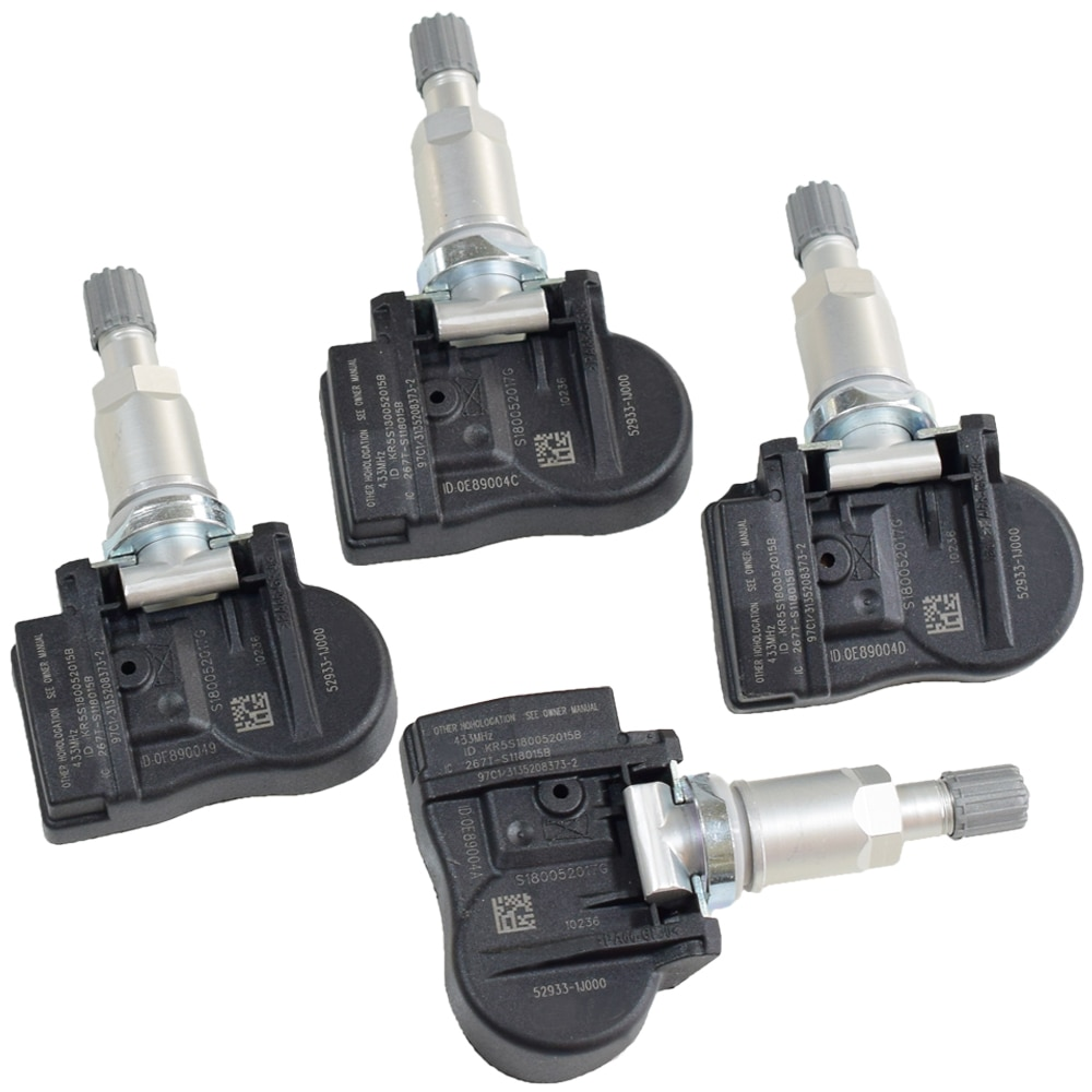 4Pcs Car Tyre Pressure Sensor Car TPMS Tire Pressure Monitoring System Sensor 52933-1J000 529331J000 433Mhz For Hyundai Kia
