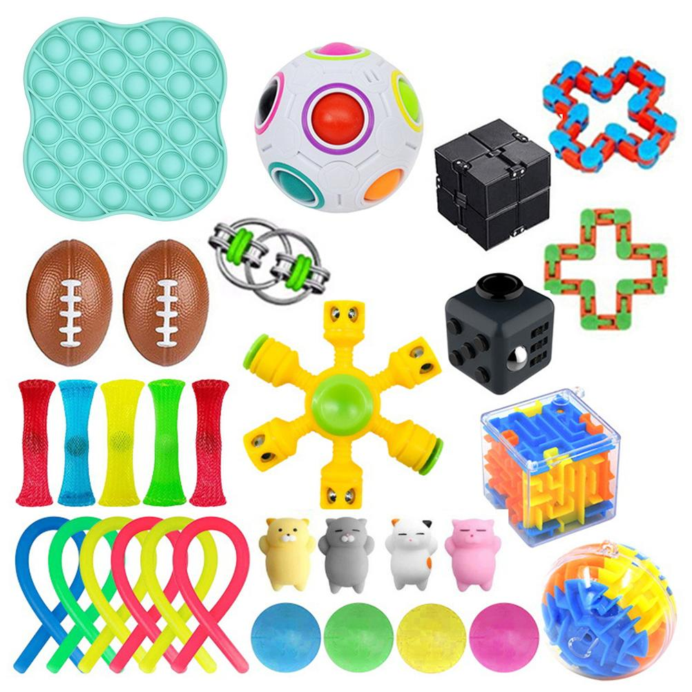 31PCS Sensory Toys Set Stretchy Toys Squeezing Balls Decompression Toys for Kids Adults enlarge