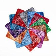 New Design Tie Dye Women Cotton Square Scarf Gradient Color Hip Hop Bandana Cashew Headband Scarf Gifts for Men/Boys/Girls