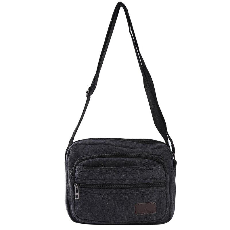 Retro Canvas Men Travel Bag Casual Men Shoulder Crossbody Outdoor Bags Mens Travel School Retro Zipp