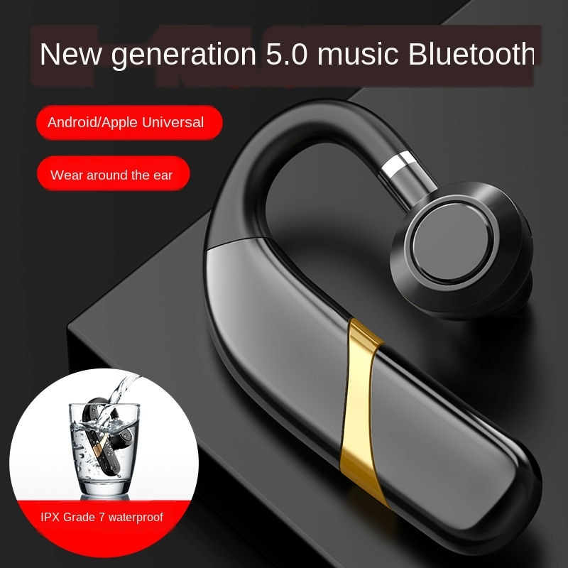 Sports Bluetooth Headset Wireless Waterproof Earhook Single-Ear Universal Earphone for Xiaomi Mi iPhone Huawei Oneplus