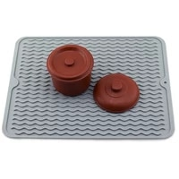foldable drying heat insulation soft rubber dishes protector sink mat table kitchen home anti slip drying dishes drain mat