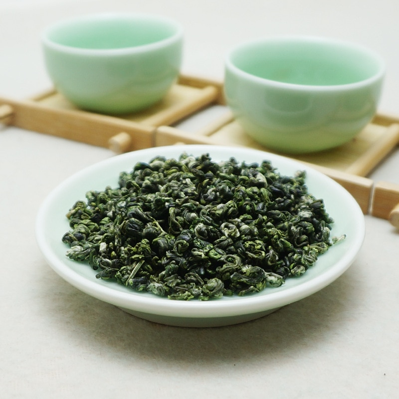 Thé vert bi-luo-chun chinois Yunnan, véritable thé vert, pour perte de poids, thé vert début du printemps, soins de santé, nouvelle collection 2020