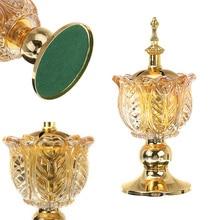 Suporte de incenso árabe para bakhoor oud incenso varas cones casa mesa artesanato abraço-ofertas