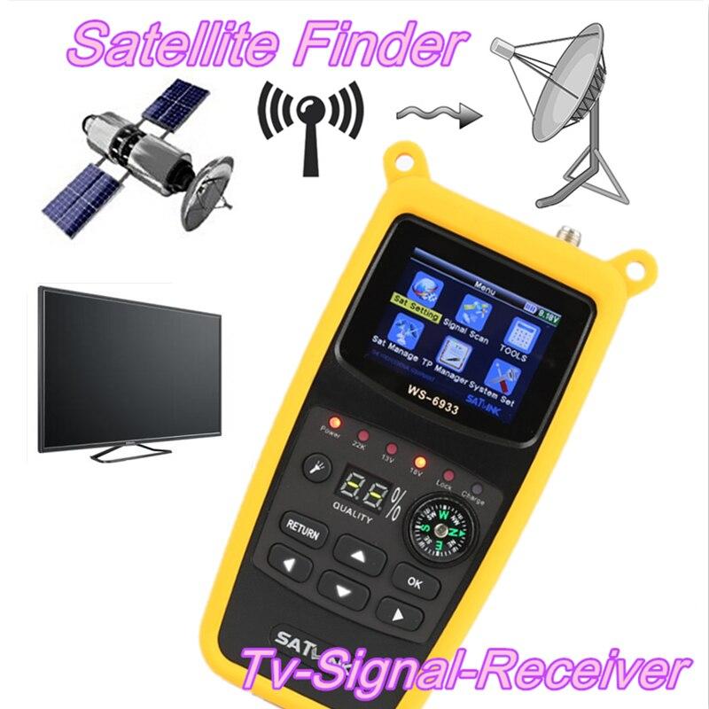 Buscador satelital Satlink, medidor DVB S2 FTA Cku banda Satlink, buscador Digital Ws 6933, buscador Sat