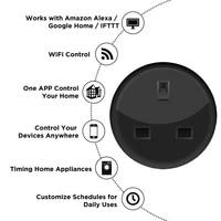 Prise intelligente sans fil Tuya WiFi 10A UK  avec telecommande  fonctionne avec Alexa et Google Assistant  accessoires utiles pour maison intelligente