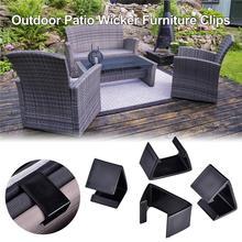 Paquet de 20 Patio en osier mobilier dextérieur sectionnel canapé alignement chaise attaches Clips pinces connecteurs 6X3.5CM