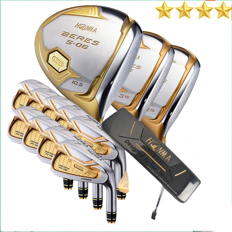 4 star golf club HONMA S-06 golf club + fairway wood + iron + putter set free shipping