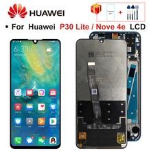 2312*1080 Original LCD avec cadre pour HUAWEI P30 Lite écran daffichage LCD pour HUAWEI P30 Lite écran Nova 4e MAR-LX1 LX2 AL01