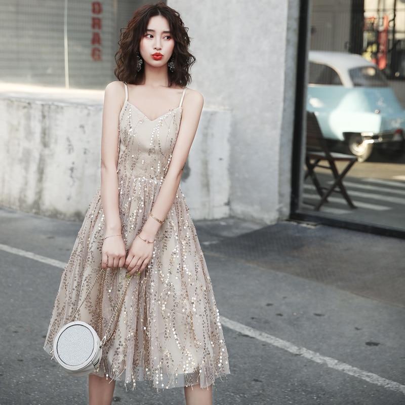 فستان كوكتيل مزين بالترتر ، زي دانتيل ، مقاس كبير ، مجموعة جديدة 2020