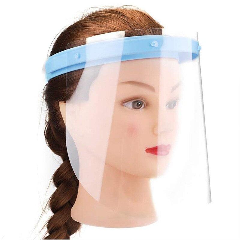Anti-niebla protección facial completa Anti Saliva película protectora reemplazable claro al aire libre protector facial para soldadura protección facial Personal cuidado de la salud EK-Nuevo