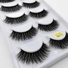 5 paires de cils 3d vison cils extension de cils naturel faux cils volume cils maquillaje vison cils maquillage cilios