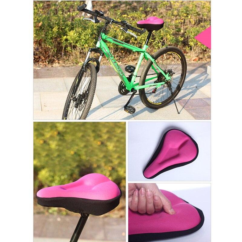 Bicicleta nueva cubierta de sillín de bicicleta de montaña de espuma gruesa suave cojín de alta resistencia para accesorios de bicicleta de ciclismo