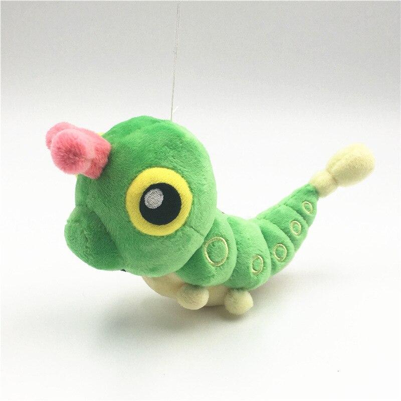 """Nuevo 5 """"12cm verde gusano Caterpie de peluche de juguete Metapod Animal relleno figura juguetes de regalo de los niños"""
