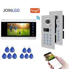 720P WiFi IP Video Tür Telefon Video Intercom Türklingel System Motion Erkennung 2 Code Tastatur RFID Kamera Tuya App remote Entsperren