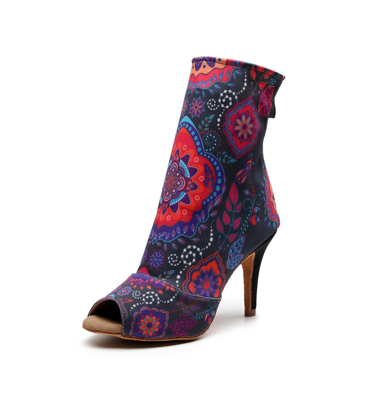 Luxo 2019 salsa jazz ballroom latina sapatos de dança para a dança das mulheres profissional chinês pequenos pés trecho tecido inicialização