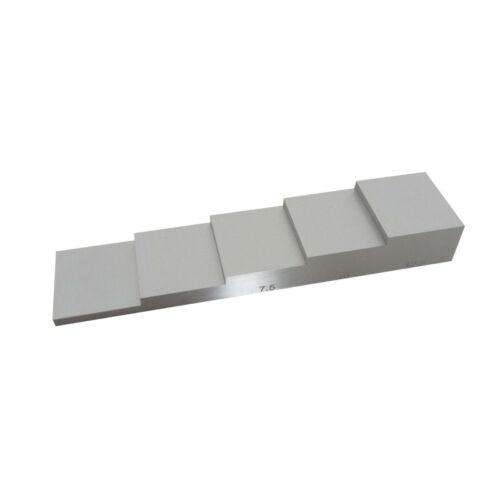 2.5-5-7.5-10-12.5mm 5 خطوة اختبار كتلة 304 الفولاذ المقاوم للصدأ معايرة اختبار كتلة لقياس سمك بالموجات فوق الصوتية