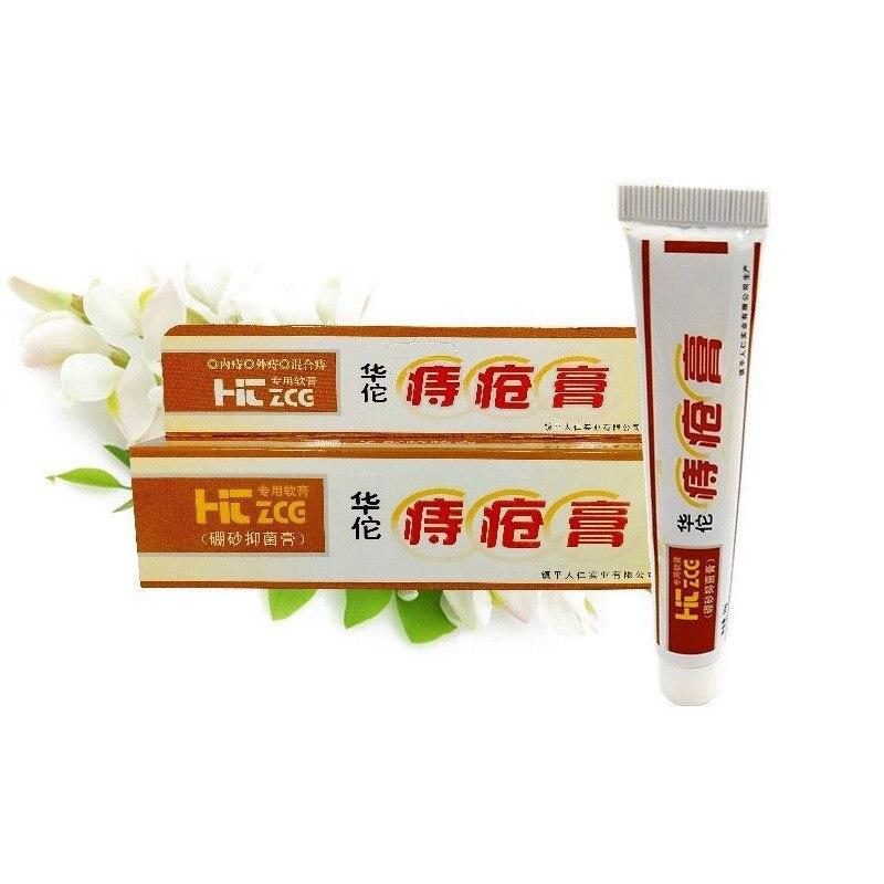 8 Uds Crema para hemorroides tratamiento de acné fístula Anal chino para el dolor parche para hemorroides internos pilas pomada Anal externa