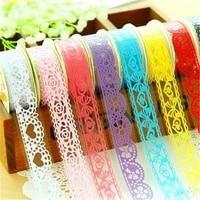 washi tapelace pattern glitter bling self adhesive tapediamond washi tape masking diy scrapbooking sticker 6 roll color random