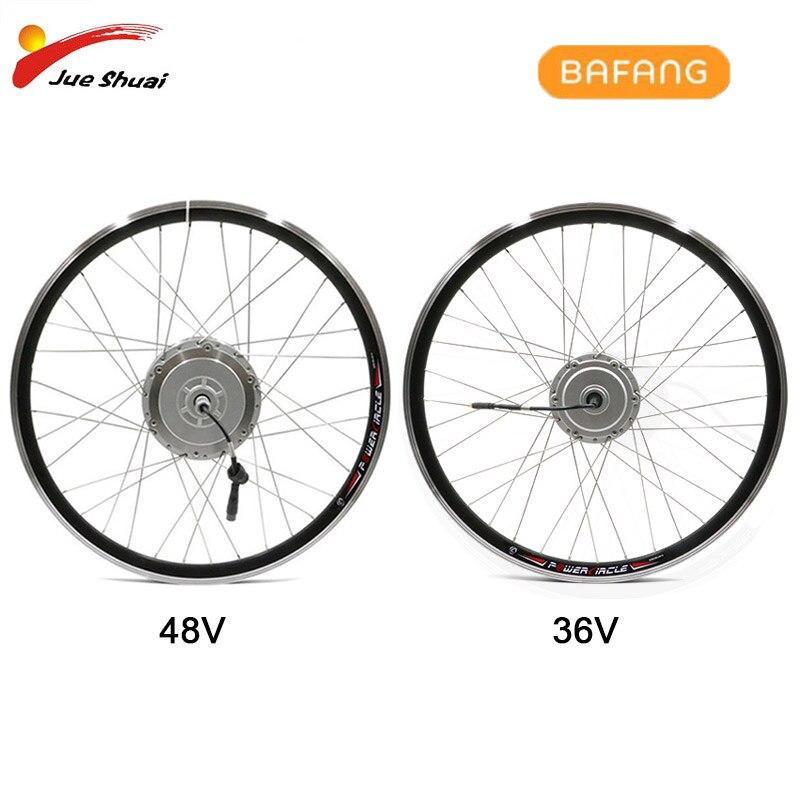BAFANG-Rueda de Motor delantero para bicicleta eléctrica, motor sin escobillas, 36V, 48V,...