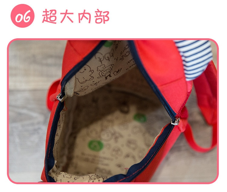 Children's backpack boy infant cute baby double shoulder 1-2 years old 3 small schoolbag tide traction rope female anti walk