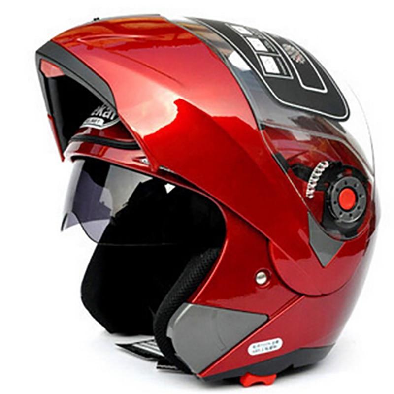 JIEKAI-خوذة دراجة نارية مع قناع مزدوج ، معيارية ، قابلة للطي ، عدسة مزدوجة للسباق ، معتمدة من DOT و ECE ، 105