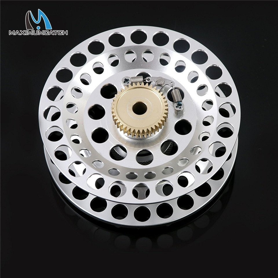 Maximumcatch Automatic Fly Fishing Reel Y4 70 2+1 BB Super Light Aluminum Fly Reel Black/Gold Color enlarge