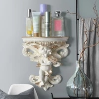 european style angel wall hanging rack wall living room wall decoration resin crafts wedding decoration small storage rack