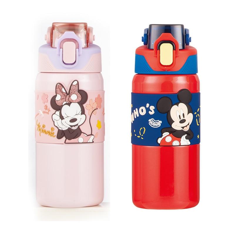 ديزني كوب حراري زجاجة ماء الطفل 316 الفولاذ المقاوم للصدأ طعام أطفال الصف زجاجة معزولة كوب كوب هدية الكبار