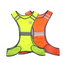 Safety Reflective Vest Outdoor High Visibility Night Cycling Riding Running Reflective Vest Unisex S