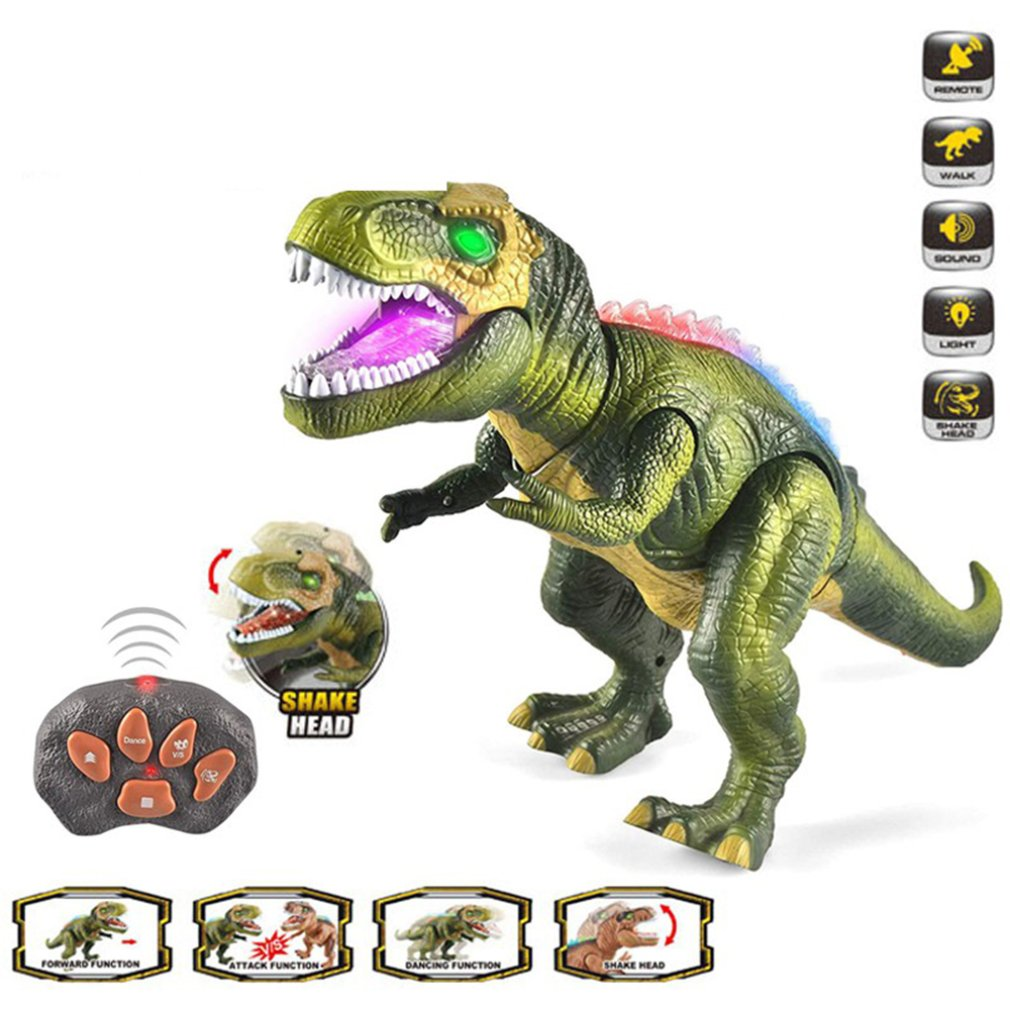 Remote Control Dinosaur Toy Child Electronic Dinosaur Glow Dancing Electric Dinosaur Can Walk With Light Dinosaur enlarge