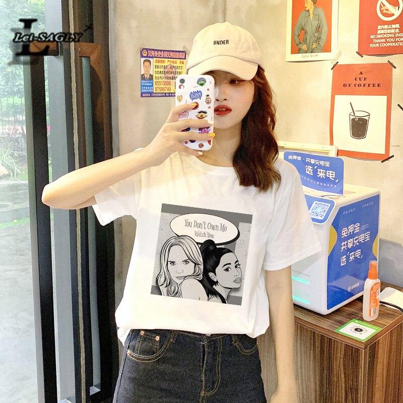 Camiseta para mujer Lei satly Ariana Grande que no me posee reloj ahora impresión moda ulzzang Casual camiseta harajuku kawaii tee
