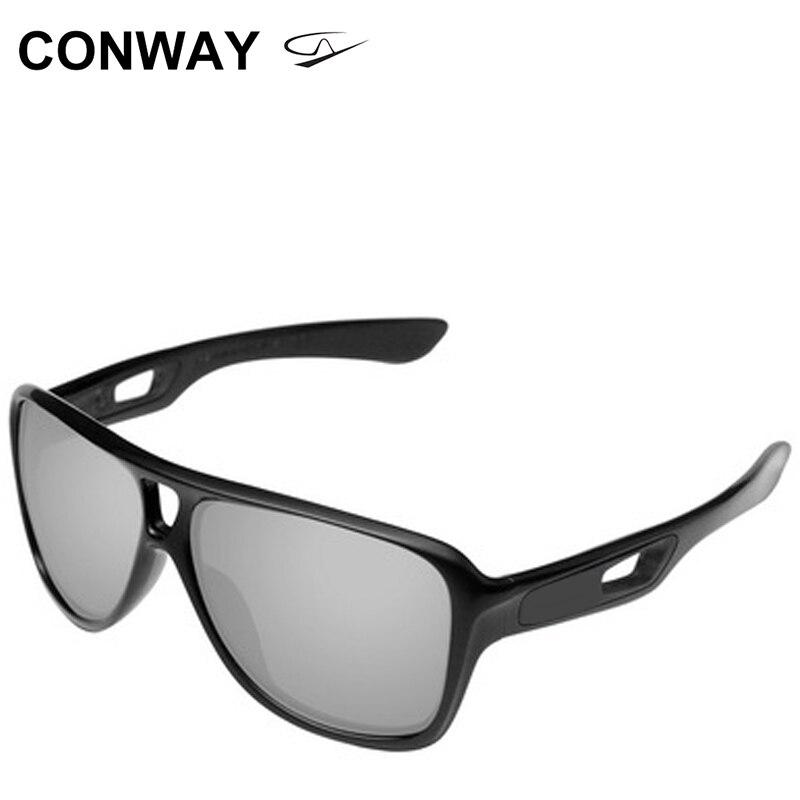 كونواي نظارات شمسية رياضية رجالية كبيرة مربعة نظارات للقيادة نظارات ضد الرياح TR90 إطار غير قابل للكسر 9150