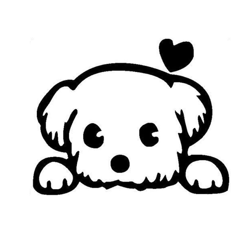 PLAY COOL Cartoon Baby Pet Cute Dog Car Sticker Window Funny Animal Automobiles Motorcycles Exterior Accessories Vinyl Decals